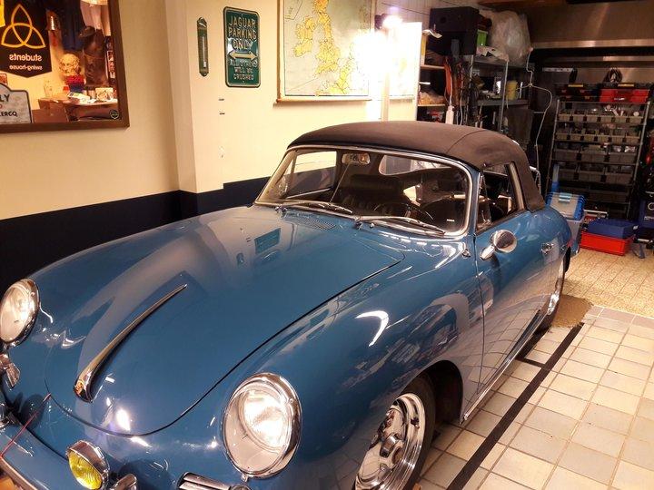 Porsche 356 Super 90 6 volt omgebouwd na led verlichting knipperlichten, remlichten achterlicht, stadslichten