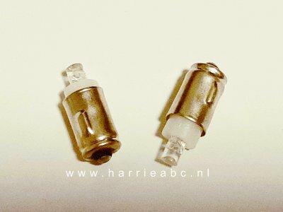 BA7S led gelijkstroom (DC) 6 volt 2 watt massa negatief. (BA7S.03.OW.84)