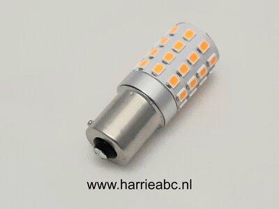 BAU15S 21 watt12 volt kleur Amber te gebruiken voor cambus systeem. ( 12.BAU15S.21.CAMBUS.OA.41 )
