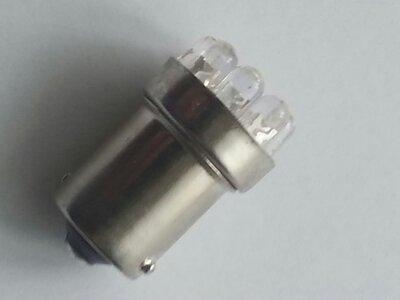 Led BA15S 6 volt bi-polariteit (10 watt) (wit, warm wit en rood)