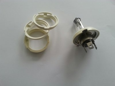 Adaptor ring van H4 (P43T) naar Duplo (P45T) diameter 43.5 mm gat perfect passend. (Adaptor.01.60)