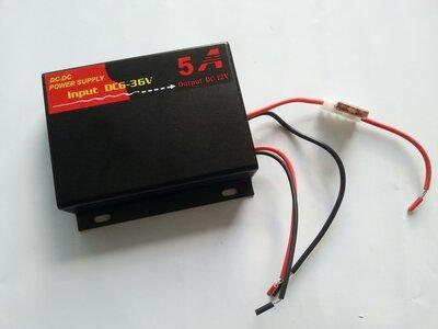 Omvormer DC/DC 6 volt naar 12 volt 5 ampére. (222222)