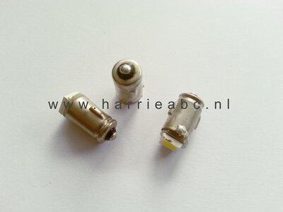 BA7S led gelijkstroom (DC) 6 volt 2 watt massa negatief wit