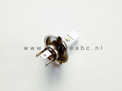 Voorlamp H4 (P43T) met groot en dimlicht led DC 6 en 12 volt systemen in Wit 600-1200 lum.