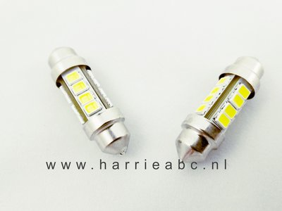 Buis lampje 6 volt 10 watt 36 mm 120 Lum. (Buis36.10.OW.01)