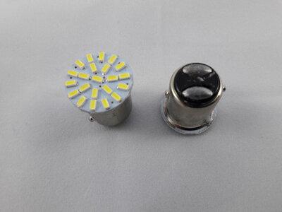 BAY15D kleinled  24 volt DC (21/5 watt). (24.BAY15D.21/5.OW.20)
