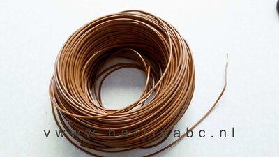 Bruin stroomdraad 0.5 mm per meter. (BRUIN.0.5.HAM)