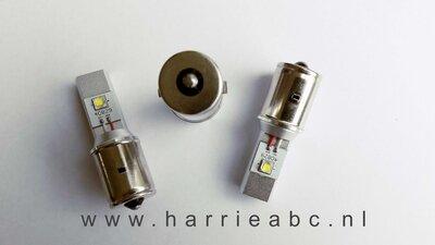 BA20S led 25 watt bi-polariteit  voor 6 en 12 volt systemen. (BA20S.25.OW.01)