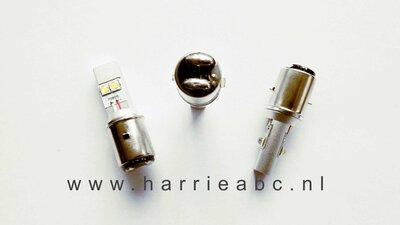 Voorlamp BA20D groot en dimlicht led DC 6 en 12 volt systemen in Wit 800 - 1600 lum. (BA20D.30.OW.01)