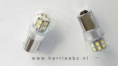 BA15S led gelijkstroom (DC) 21 watt 16 ledjes diverse kleuren 12 volt. (12.BA15S.18.21.OO.41)