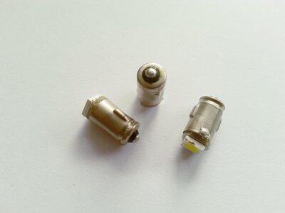 BA7S led gelijkstroom (DC) 6 volt 2 watt massa positief wit. (BA7S.01.OW.POS.01)