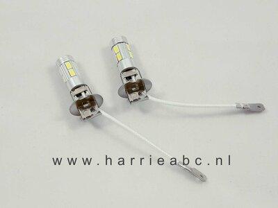 H3 LED lamp 12 volt of voor 6 volt met omvormer 20 watt kleur wit en warm wit, ( 12.H3.20.OO.88 ))