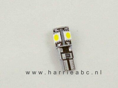T10 12 volt 5 watt in kleur wit ( 12.T10.05.OW.55 )