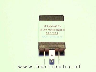 LED Knipperlichtrelais 12 volt 4 aansluitingen 0.02 t/m 20 A  ( 12.RELAIS.05.03 )