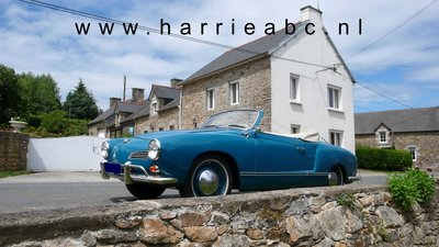 Volkswagen Karmann Ghia met koplampen LED ombouw set 6 volt na 1963. (VW. KARMANNGHIA.02.HAM )