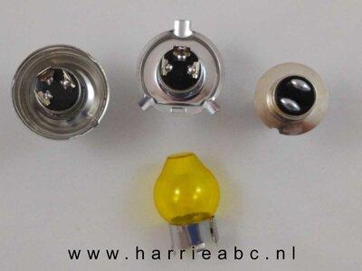 Geel kapje voor LED voorlamp H4, Duplo (P45T)