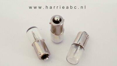 BA9S 12 volt 5 watt massa negatief zijdelings schijnend in diverse kleuren. (12.BA9S.05.ZIJ.OO.41  )